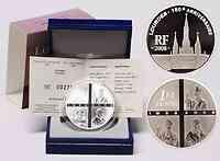 Frankreich : 1,5 Euro Lourdes inkl. Originaletui und Zertifikat  2008 PP 1,5 Euro Lourdes