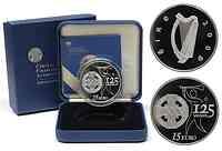 Irland 15 Euro 125 Jahre GAA inkl. Originaletui und Zertifikat 2009 PP