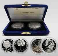 Italien : 15 Euro Set : 5 + 10 Euro Europa des Volkes  2003 PP