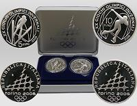 Italien : 15 Euro III. : 5 Euro Skispringen + 10 Euro Eisschnelllauf  2005 PP Olympiade Turin