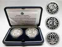 San Marino : 15 Euro 5+ 10 Euro Gedenkmünzen in Originalkassette mit Zertifikat  2003 PP