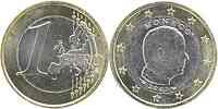 Monaco : 1 Euro Albert mit Münzzeichen 2007 vz/Stgl.