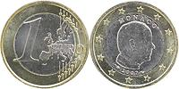 Monaco : 1 Euro Albert mit Münzzeichen  2007 vz/Stgl. 1 Euro Monaco 2007