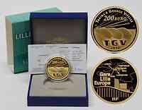 Frankreich : 200 Euro TGV und Bahnhof Lille Europe inkl. Originaletui und Zertifikat  2010 PP