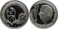 Belgien : 20 Euro Fußball WM 2006 in Deutschland in Kapsel inkl. Zertifikat  2005 PP 20 Euro FIFA Belgien;20 Euro Belgien 2005