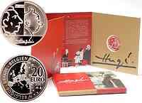 Belgien 20 Euro Tim und Struppi 2007 PP
