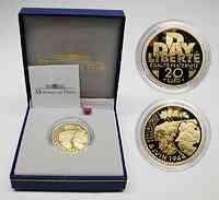Frankreich : 20 Euro 60. Jahrestag D-Day, inkl. Originaletui und Zertifikat 2004 PP