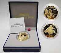 Frankreich 20 Euro Entente Cordiale 2004 GOLD PP rar