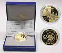 Frankreich 20 Euro Transsibirische-Eisenbahn 2004 PP GO