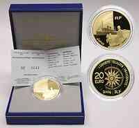 Frankreich 20 Euro Dampfschiff Messageries M. 2004 GOLD