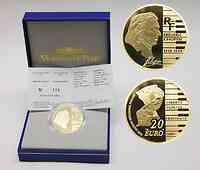 Frankreich : 20 Euro Frédéric Chopin inkl. Originaletui und Zertifikat  2005 PP