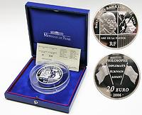 Frankreich : 20 Euro Benjamin Franklin inkl. Originaletui und Zertifikat (5 Unzen Silbermünze !)  2006 PP 20 Euro Frankreich 2006, 5 Unzen Frankreich, Benjamin Franklin