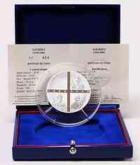 Frankreich : 20 Euro Lourdes inkl. Originaletui und Zertifikat  2008 PP 5 Unzen Lourdes Silber