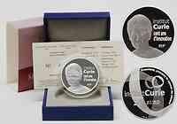 Frankreich : 20 Euro Institut Curie Piedfort inkl. Originaletui und Zertifikat  2009 PP 20 Euro Marie Curie Piedfort 2009