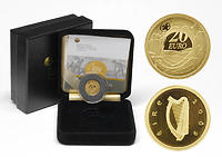 Irland 20 Euro Ploughman Banknoten 2009 PP Gold
