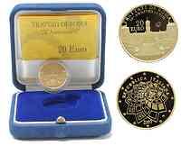Italien : 20 Euro Römische Verträge inkl. Originaletui und Zertifikat  2007 PP 20 Euro Stern Ausgabe; Europastern Ausgabe
