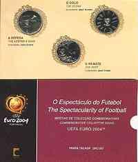 Portugal 24 Euro II. Ausgabe 3 x 8 Euro zur Fußball EM 2004 Silber - im Blister