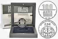 Portugal 2,5 Euro 100 Jahre erstes portugiesisches U-Boot 2013 PP