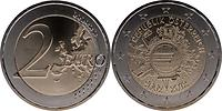Österreich : 2 Euro 10 Jahre Euro Bargeld  2012 bfr