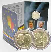 Belgien 2 Euro Henri und Albert II. im Blister 2005 Stg