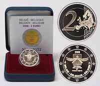 Belgien 2 Euro Menschenrechte 2008 PP original