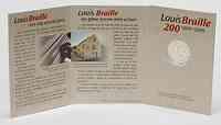 Belgien 2 Euro Louis Braille im Originalblister 2009 St
