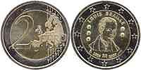 Belgien : 2 Euro Louis Braille  2009 bfr