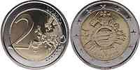 Belgien : 2 Euro 10 Jahre Euro Bargeld  2012 bfr