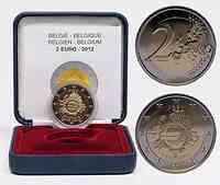 Belgien : 2 Euro 10 Jahre Euro Bargeld  2012 PP