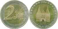 Deutschland : 2 Euro Holstentor Lübeck  2006 bfr 2 Euro Deutschland 2006; 2 Euro Holstentor