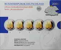 Deutschland : 2 Euro Schleswig - Holstein Holstentor Lübeck Komplettsatz im Originalblister 2006 PP