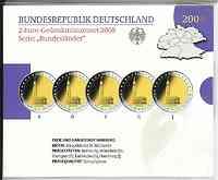 Deutschland : 2 Euro Hamburger Michel - St. Michaeliskirche Komplettsatz im Originalblister 5 x 2 Euro  2008 PP