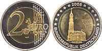 Deutschland : 2 Euro Hamburger Michel - Variante mit alter Wertseite  2008 Stgl.