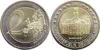 Deutschland : 2 Euro Saarland : Ludwigskirche in Saarbrücken  2009 Stgl. 2 Euro Saarland 2009