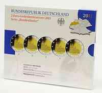 Deutschland : 2 Euro Nordrhein-Westfalen Kölner Dom Komplettsatz im Originalblister 5 x 2 Euro  2011 PP