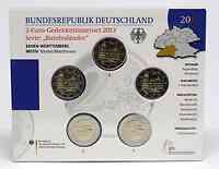 Deutschland : 2 Euro Baden Württemberg - Zisterzienserkloster Maulbronn Komplettsatz 5x2 Euro  2013 bfr