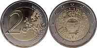Frankreich : 2 Euro 10 Jahre Euro Bargeld  2012 bfr