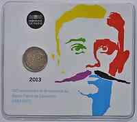 Frankreich 2 Euro Pierre de Coubertin 2013 Stgl. Coincard