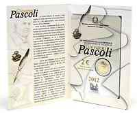 Italien : 2 Euro 100. Todestag Giovanni Pascoli  2012 Stgl.