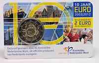 Niederlande : 2 Euro 10 Jahre Euro Bargeld  2012 Stgl.