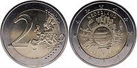 Niederlande : 2 Euro 10 Jahre Euro Bargeld  2012 vz.