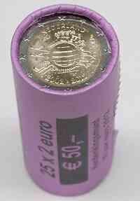Niederlande : 2 Euro 25 x 2 Euro Originalrolle 10 Jahre Euro Bargeld  2012 Stgl.