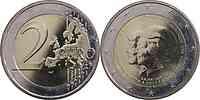 Niederlande : 2 Euro Thronwechsel - Doppelportrait Beatrix / Willem Alexander 2013 vz.