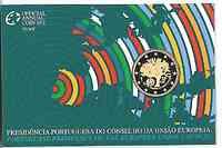 Portugal : 2 Euro EU-Präsidentschaft im Originalblister  2007 PP 2 Euro Portugal PP 2007