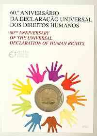 Portugal 2 Euro Menschenrechte im Originalblister 2008 Stgl.