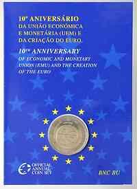 2 Euro 10 Jahre Euro in Originalblister 2009 Stgl.