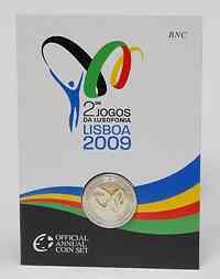 Portugal : 2 Euro Lusophonie im Originalblister  2009 Stgl.