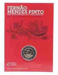 Portugal : 2 Euro 500. Geburtstag von Fernao Mendes Pinto  2011 Stgl.