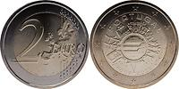 Portugal : 2 Euro 10 Jahre Euro Bargeld 2012 bfr