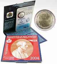 San Marino 2 Euro Borghesi 2004 Stgl. / BU
